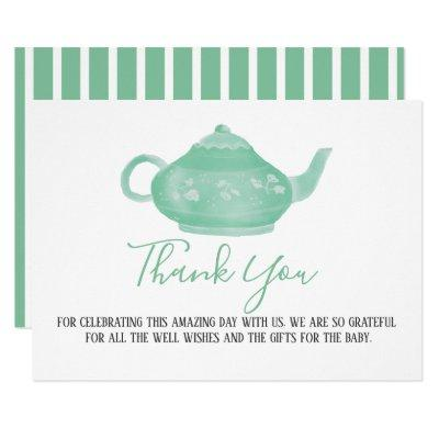 Tea Party Shabby Chic Baby Shower | Thank You Invitation