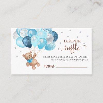Teddy Bear Diaper Raffle Baby Shower Enclosure