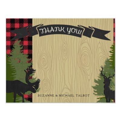 Thank You Woodland Forest Lumberjack