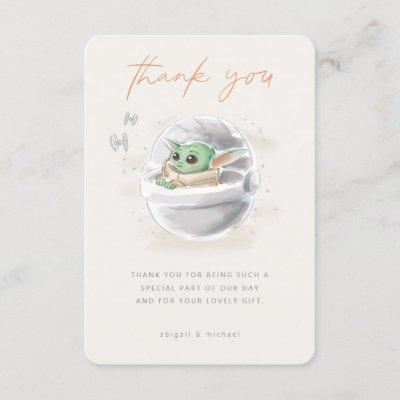 The Child | Watercolor Baby Shower Thank You Invitation