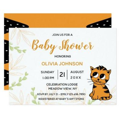 The Little Tiger Cub | Baby Shower Invitation