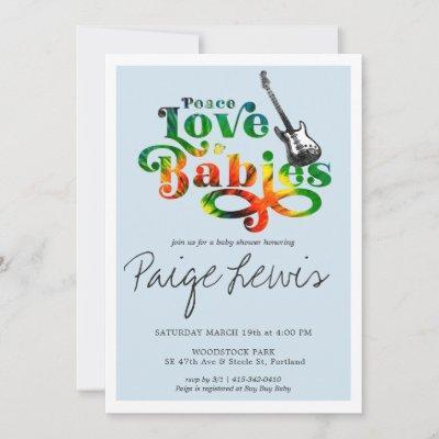 Tie Dye Hippie Baby Shower Invitation