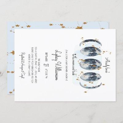 To The Moon Celestial Baby Shower Invitation