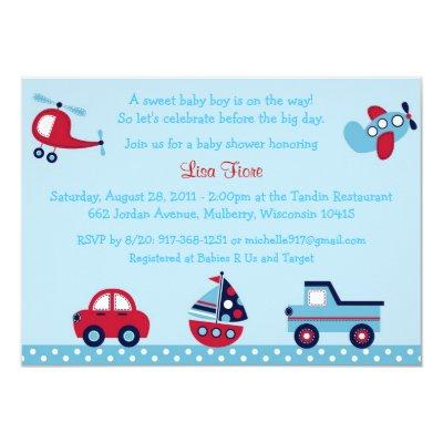 Transportation Invitations