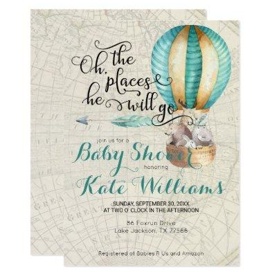 Travel Themed Baby Shower Invitations