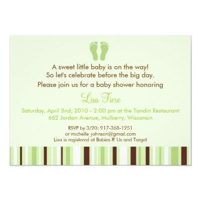 Baby feet baby shower invitations baby shower invitations baby trendy baby feet neutral filmwisefo