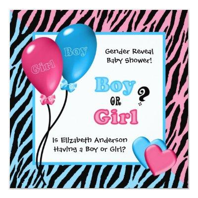gender reveal party baby shower invitations | baby shower invitations, Baby shower invitations