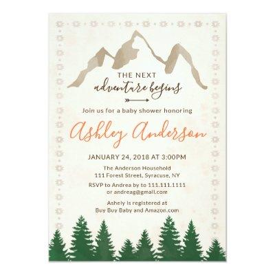 Tribal Adventure Baby Shower Invitations