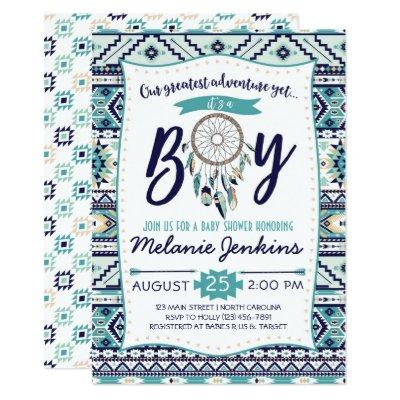 Tribal Arrows , It's a boy Invitations
