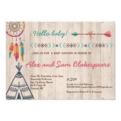 Tribal Baby Shower Invitations
