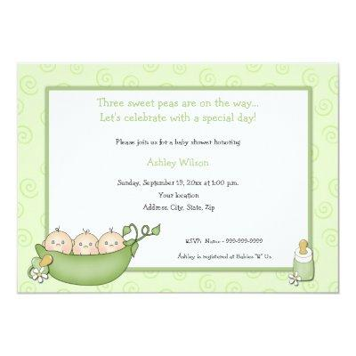 Triplets baby shower invitations baby shower invitations triplets filmwisefo Choice Image