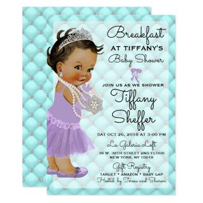 Turquoise & Lavender Baby Shower Invitation