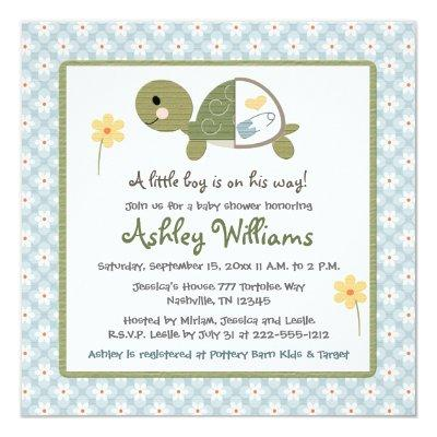 turtle baby shower invitations baby shower invitations | baby, Baby shower invitations