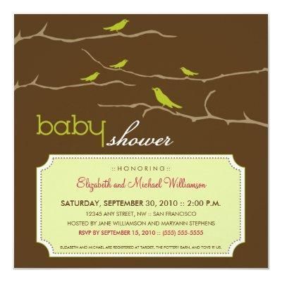 Branch baby shower invitations baby shower invitations tweet tweet lime filmwisefo