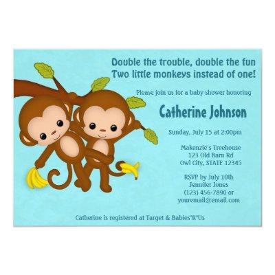 TWIN Monkeys  BLUE MM2