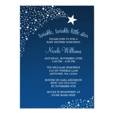 Twinkle Little Shooting Star Baby Shower Invitation