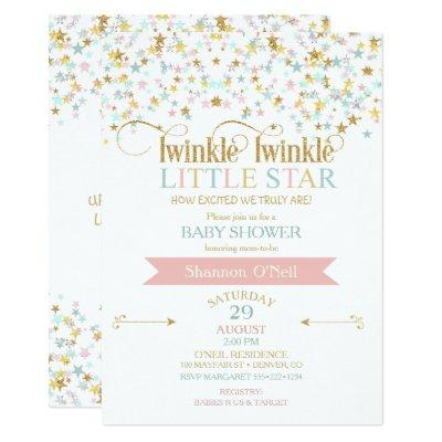 Twinkle Little Star Baby Shower Any Color Invitations