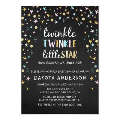 Twinkle Little Star Confetti & Chalk