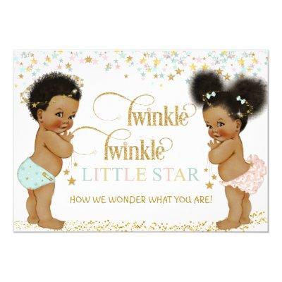 Twinkle Little Star Ethnic Baby Gender Neutral Invitations