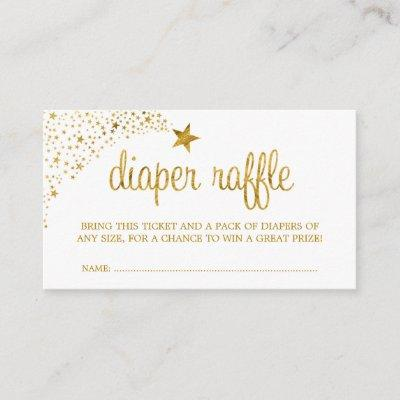 Twinkle Little Star Faux Gold Diaper Raffle Ticket Enclosure Card