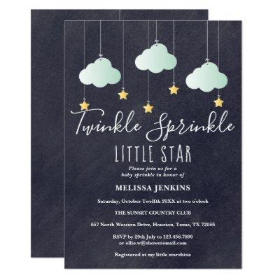 Twinkle Sprinkle Baby Shower / Sprinkle Chalkboard Invitation