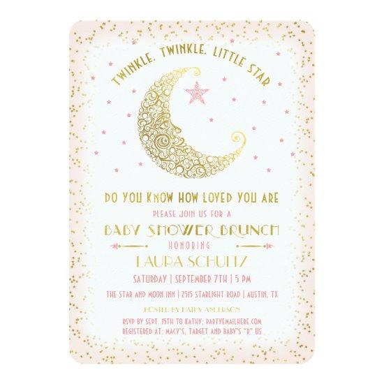 Twinkle Twinkle Little Star Baby Shower Brunch Invitations Baby