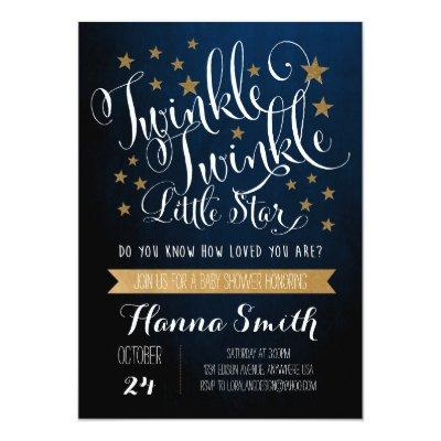 Twinkle Twinkle Little Star Invitations