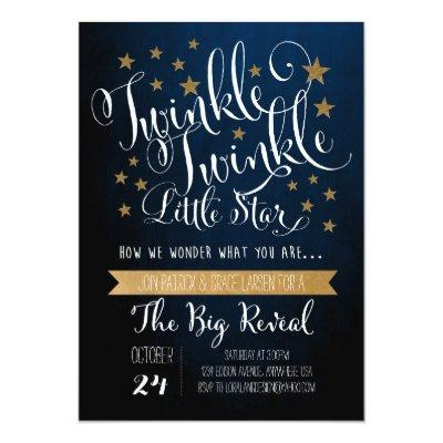 Twinkle Twinkle Little Star Invitation