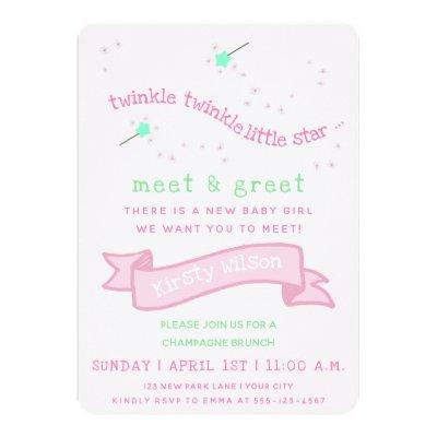 Meet and greet baby shower invitations baby shower invitations twinkle twinkle little star meet greet new baby invitations m4hsunfo