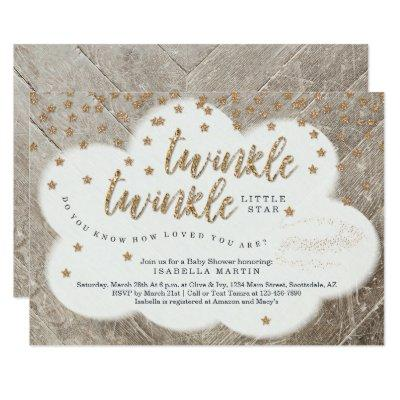 Twinkle Twinkle Little Star Unisex Baby Shower Invitation