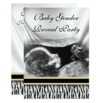 Ultrasound Baby Gender Reveal Party Invitation