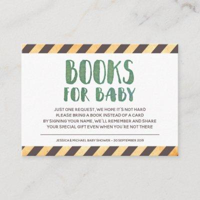Under Construction Books for Baby Enclosure Card