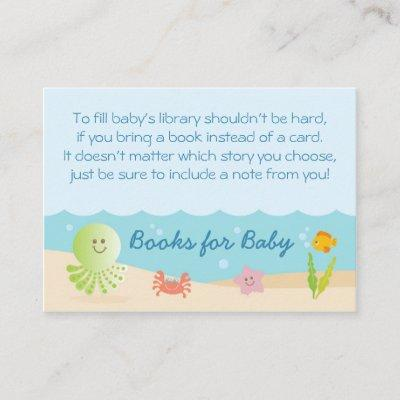 Under the Sea Baby Shower Bring a Book Card