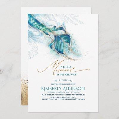 Under the Sea Mermaid Tail Baby Shower Invitation