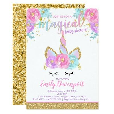 Unicorn Baby Shower Invitations Magical Baby Shower