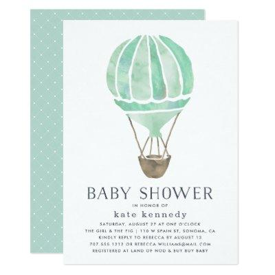 Up in the Air Baby Shower Invitations | Mint