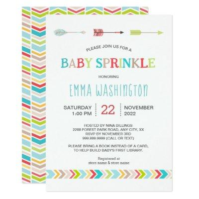 Updated tribal baby sprinkle invite