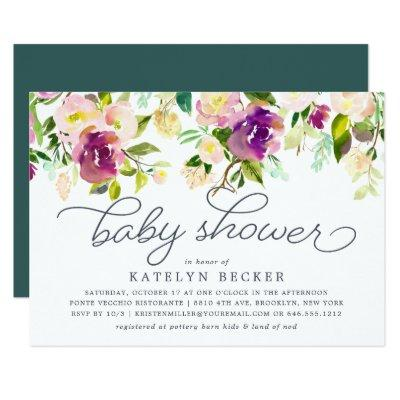Vibrant Bloom Baby Shower Invitation