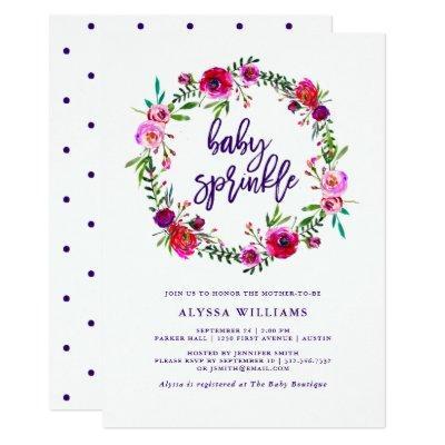 Vibrant Floral | Baby Sprinkle Invitations