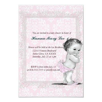 Victorian baby girl shower invitations baby shower invitations vintage purple baby shower roses pearls lace invitations vintage filmwisefo