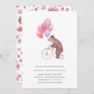 Vintage Bear Baby Shower Invitation