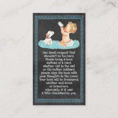 Vintage Boy & Puppy Chalkboard Book Requests 059 Enclosure Card