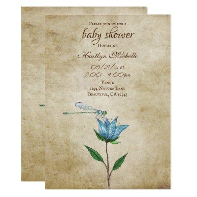 Dragonflies Baby Shower Invitations