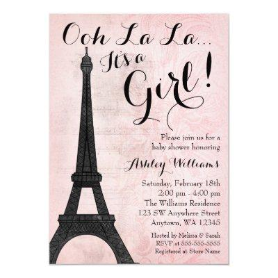 Vintage Paris Pink Black Girl