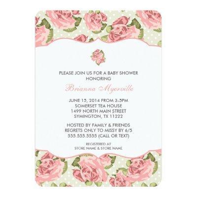 Vintage rose baby shower invitations baby shower invitations vintage rose girl baby shower invite filmwisefo Gallery