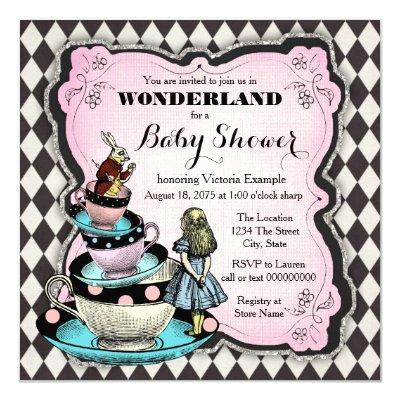 Vintage Wonderland Invitations