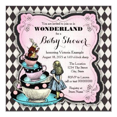Vintage Wonderland Baby Shower Invitation