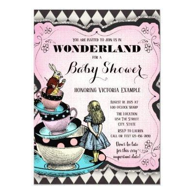Vintage Wonderland Baby Shower Invitations