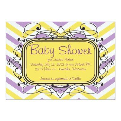 Violet and Yellow Chevron