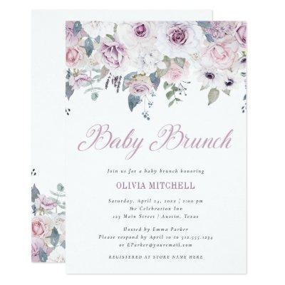 Violet Blush | Floral Baby Brunch Invitation